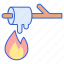 camping, marshmallow, s'more icon