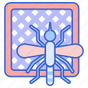mosquito, net, protection icon