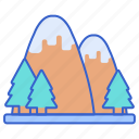 hill, mountain, mountains icon