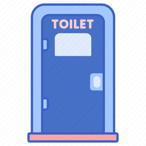 camping, portable, toilet icon