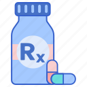 medication, pills, prescription icon
