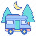 park, rv, site icon