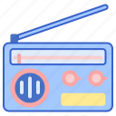music, radio, speaker icon