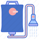 bag, outdoor, shower icon