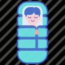 bag, outdoors, sleeping icon