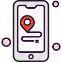 location, map, mobile, phone