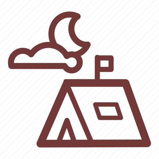 adventure, camp, camp tent, campground, camping, camping tent, tent peg icon