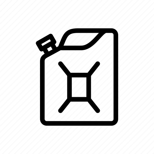 can, fuel, gas, gasoline, jerry can, jerrycan, petrol icon