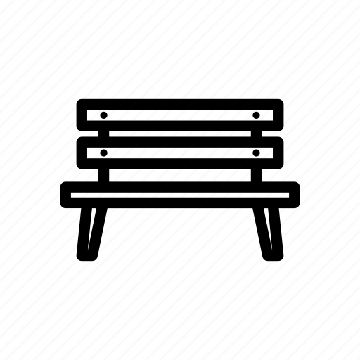 bench, chair, garden, outdoor, park, parking, sit icon