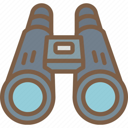 binoculars, camping, leisure, outdoors, recreation, travel icon