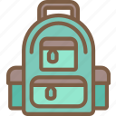 camping, leisure, outdoors, recreation, rucksack, travel icon