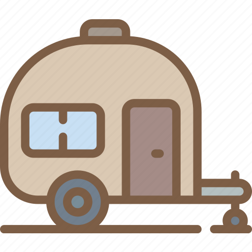 camping, caravan, leisure, outdoors, recreation, travel icon