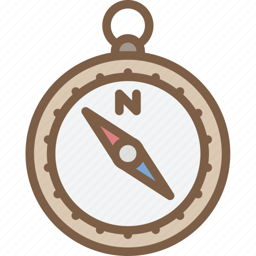 camping, compass, leisure, outdoors, recreation, travel icon