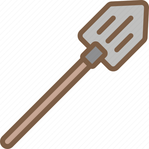 camping, leisure, outdoors, recreation, spade, travel icon