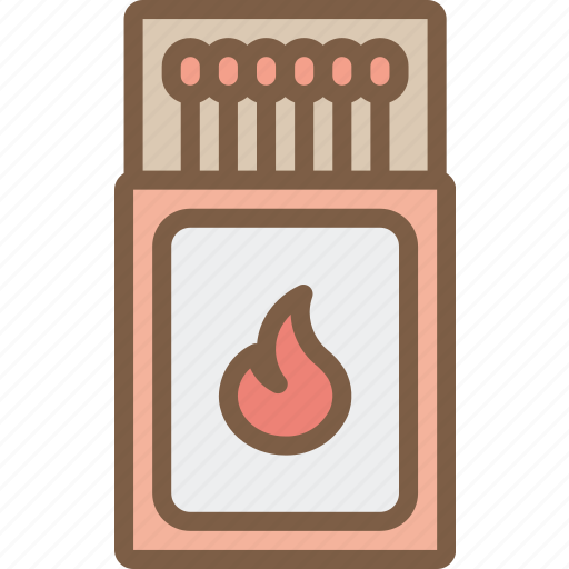 camping, leisure, matches, outdoors, recreation, travel icon
