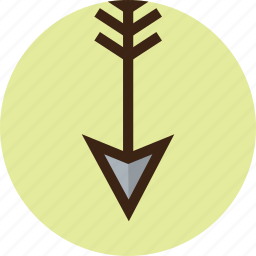 arrow, bottom, camping, down, goal, target icon