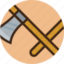 axe, camping, cut, saw, timber, wood icon