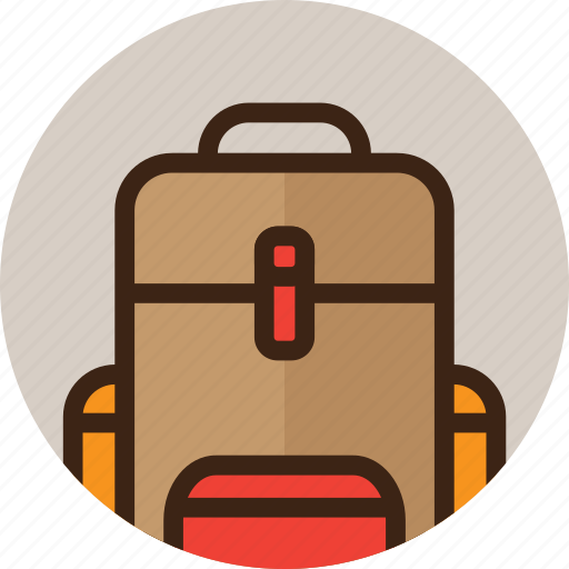 backpack, bag, baggage, camping, tourism, travel icon