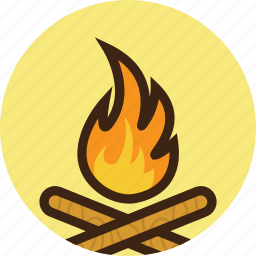 camp, campfire, camping, fire, flame, forest, wood icon