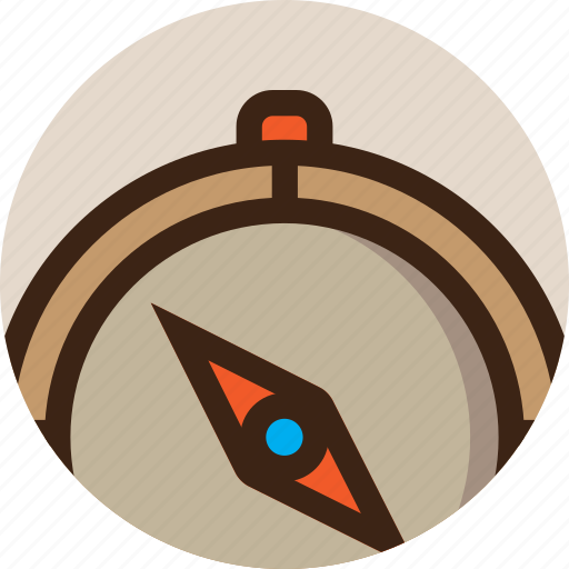 camping, compass, direction, guide, navigate, navigation, safari icon
