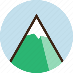 camping, climbing, landscape, mountain, nature, snow icon