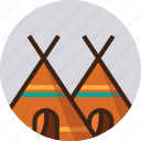 camp, camping, tents, travel icon