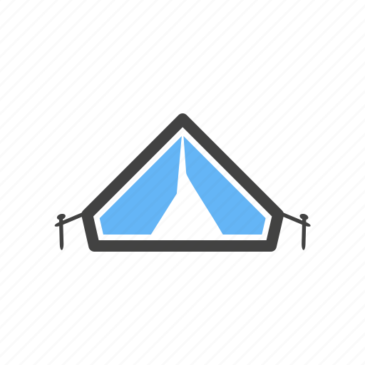 adventure, camping, hiking, lights, night, northern, tent icon