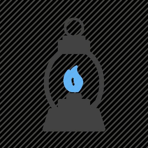 fire, gas, lamp, lantern, light, oil, old icon