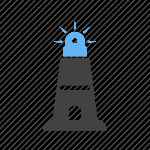 beacon, house, light, lighthouse, ocean, sea, tower icon