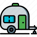 camping, caravan, leisure, outdoors, recreation, travel icon