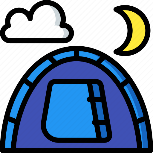 camping, leisure, outdoors, recreation, tent, travel icon