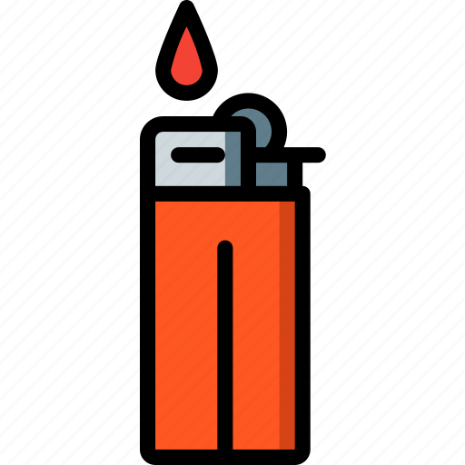 camping, leisure, lighter, outdoors, recreation, travel icon