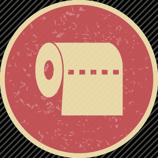 toilet paper, washroom, wipe icon