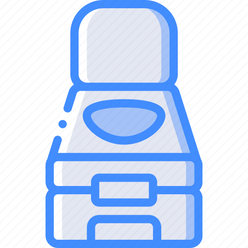 camping, leisure, outdoors, recreation, toilet, travel icon