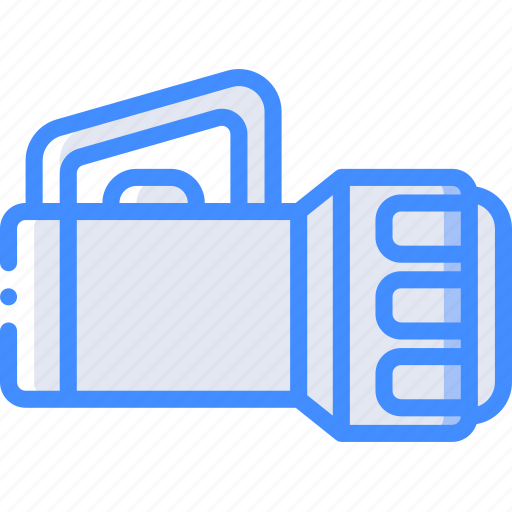 camping, leisure, outdoors, recreation, torch, travel icon