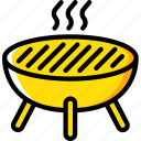 bbq, camping, leisure, outdoors, recreation, travel icon