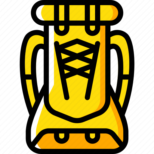 camping, leisure, outdoors, recreation, ruck, sack, travel icon
