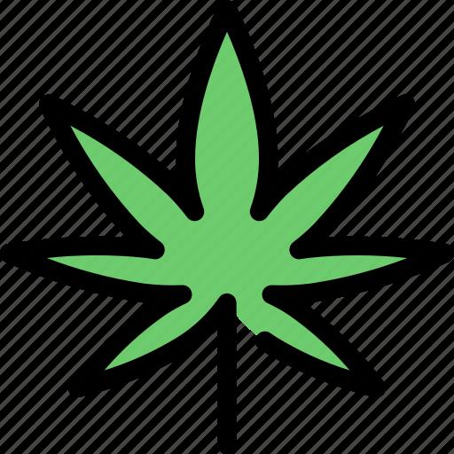 cannabis, green, leaf, marijuana, nature, plant icon