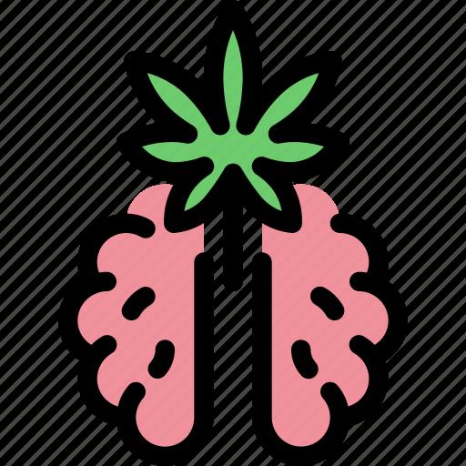 brain, cannabis, health, marijuana, medical, treatment icon