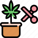 scissor, medical, marijuana, cannabis, scissors icon