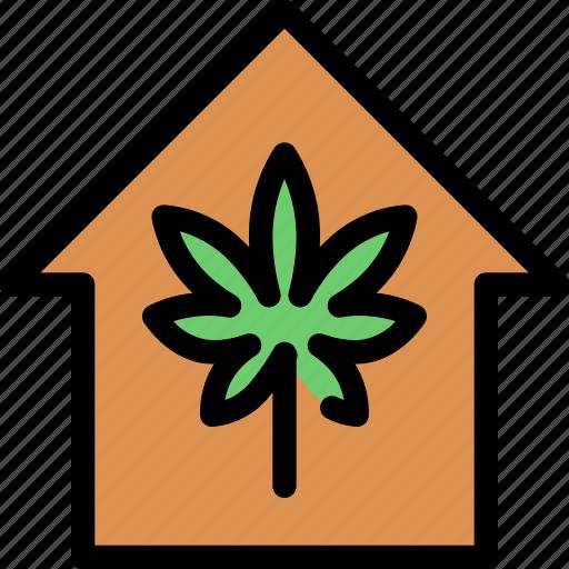 cannabis, house, law, marijuana, medical, treatment icon