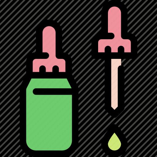 cannabis, chemistry, dropper, lab, marijuana, medical icon