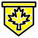 canada, leaf, sign, tag icon