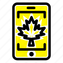 canada, cell, leaf, mobile