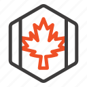 autumn, canada, flag, leaf, maple icon