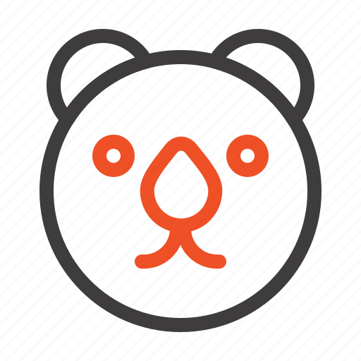 bear, head, predator icon
