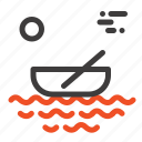 boat, canoes, kayak, river, transport icon