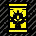 autumn, canada, leaf, note icon