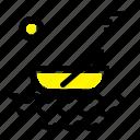 boat, canoes, kayak, river, transport icon