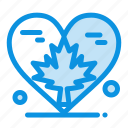 autumn, canada, heart, leaf, love icon